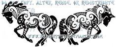 Maori Horse And Wolf Design by WildSpiritWolf.deviantart.com on @deviantART