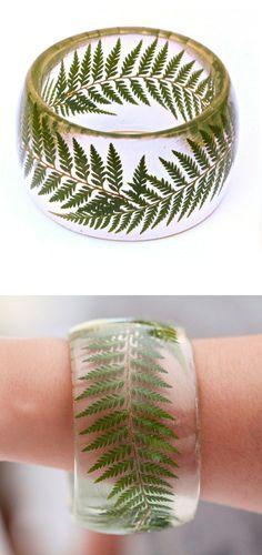 eco-friendly fern bangle