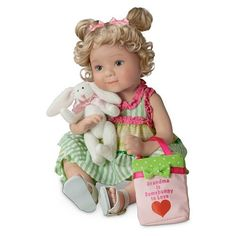 """Granddaughter Child Doll: Grandma Is Somebunny To Love"" Designed by  award-winning Master Doll Artist ~Dianna Effner~  