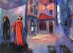 The Athenaeum - In die Nacht hinein (Marianne von Werefkin - 1910)Gouache
