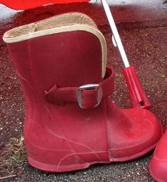 We would wear these with shoes inside them.  And in snow we would wear bread bags over the shoes but inside the boots!!!!