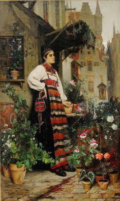 Hugo Fredrik Salmson (1843 – 1894) Swedish Flower Seller