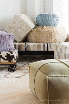 Stools, Ottomans & Poufs For Your Coastal Home!