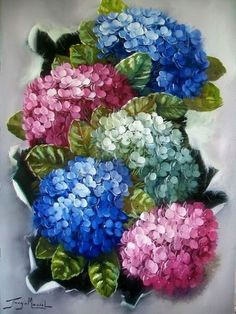 This is a work sheet on painting fluffy lilacs from way bac China Painting, Tole Painting, Fabric Painting, Painting & Drawing, Art Floral, Pintura Tole, Watercolor Flowers, Watercolor Paintings, Graffiti Kunst