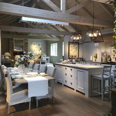 I want to move into this shop! is like a dolls house for adults! # hygge home decor Farm Kitchen Ideas, Barn Kitchen, Country Kitchen, New Kitchen, Kitchen Decor, Kitchen Design, Kitchen Island, Neptune Home, Neptune Kitchen