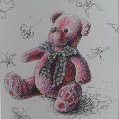 Он розовая тучка, а вовсе не медведь....немного ми ми ми вам к вечеру.... посадить ребенка за мультики, а самой сидеть рисовать-это позор и стыд!! Я плохая мать и мишкой мне по лицу. ....#мимими#artist#люблю порисовать#графика #hudgrafblog #waterblog #art_stupenka #art_markers #doodle_and_sketch#art_we_inspire