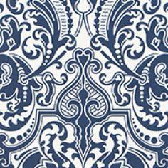 Ralph Lauren behang, Gwynne damask porcelain