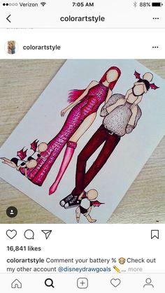 Fashion Design Drawings, Fashion Sketches, Art Sketches, Pretty Girl Drawing, Pretty Drawings, Hybrid Art, Social Media Art, Easy Doodle Art, Cute Disney Drawings