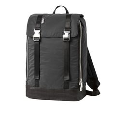 ECOALF | FLAT BACKPACK BLACK - This backpack is made with 45 recycled plastic bottles and 180 grams of discarded fishing nets.