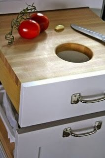 Kitchen Counter Waste Hole
