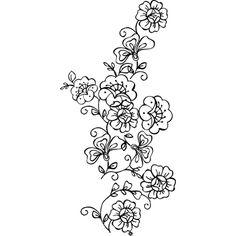 Flower Stencils Printable   Stencils Designs Free Printable Downloads - Stencil 068