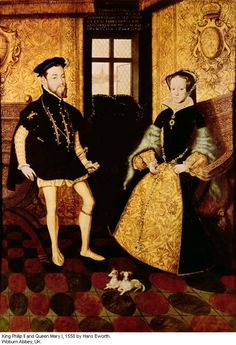 Mary with her husband, Phillip of Spain. Her devotion to him was not matched.