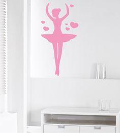 Wandtattoo Ballerina, Ballettänzerin, Tänzerin, Wandgestaltung, Wandmotiv