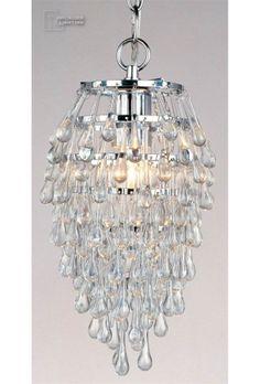 Crystal Clear Teardrop Contemporary Foyer Light