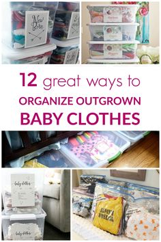 Outgrown baby clothes: 12 great storage and organization ideas Outgrown baby clothes: How to store them and keep them organized. 12 different ideas and examples to inspire you and get you started. Old Baby Clothes, Storing Baby Clothes, Baby Clothes Storage, Baby Clothes Dividers, Closet Dividers, Clothing Storage, Diy Clothes, Clothes Hanger, Kids Clothes Organization