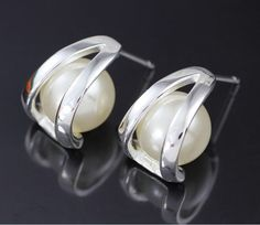 Min order $15(MIX)  FS-1 Fashion Jewelry 925 Silver Plate Earring E204 US $1.62