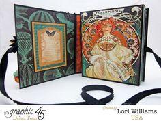 Lori Williams Designing for Graphic 45 Steampunk Debutante Re Release Box Card