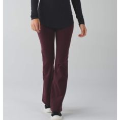 LULULEMON GROOVE PANTS Priced to sell...size 4tall-get it hem at the store for free lululemon athletica Pants Boot Cut & Flare