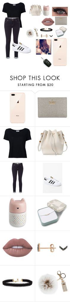 """Untitled #609"" by suandergoncalves on Polyvore featuring Kate Spade, Frame, Sophie Hulme, White Stuff, adidas, FOSSIL, Lime Crime, Jezebel London, Vanessa Mooney and Overland Sheepskin Co."