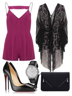 """""""Untitled #156"""" by victorine-b on Polyvore featuring Finders Keepers, One Vintage, Versace, Christian Louboutin, women's clothing, women, female, woman, misses and juniors"""