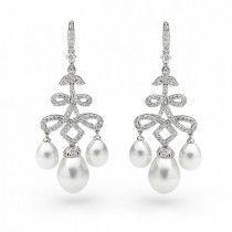 Georgini White Pearl Earring ♥ Designer Bridal Jewelry