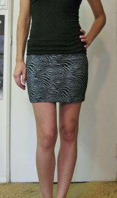 Zebra/Tiger Striped Bodycon Mini Skirt by Doomgaze