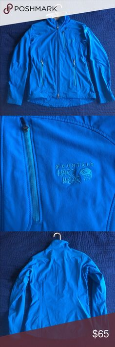 NWOT Mountain Hardwear Women's Jacket This sky blue jacket is perfect for running, hiking and camping. It's a great second layer in case of inclement weather. Water resistant, not waterproof. Mountain Hardwear Jackets & Coats Utility Jackets