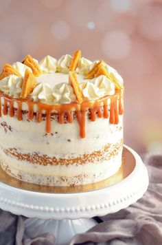 Dessert Decoration, Mousse Cake, Pie Cake, Drip Cakes, Healthy Sweets, Other Recipes, Cake Designs, Cake Cookies, Vanilla Cake