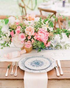 Casey Wilson and David Caspe's California Wedding - The Reception Tables