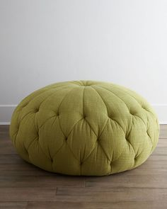 The Singer Green Pouf Ottoman - Home Decorating Trends