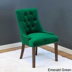 Contemporary Accent Chair Style Modern Sofa - Upholstered Solid Velvet Mid-Century Design, 2 Piece Armless Couch, Emerald, Tufted Back Button Cushion, Wide - Living Room Furniture Home Décor Chair Upholstery, Upholstered Dining Chairs, Dining Chair Set, Dining Room Chairs, Bar Furniture, Furniture Deals, Chihiro Y Haku, Parsons Chairs, Best Dining