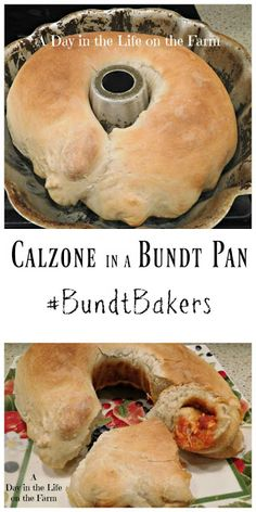 A Day in the Life on the Farm: Calzone Bundt Pizza Recipes, Appetizer Recipes, Cooking Recipes, Italian Dishes, Italian Recipes, Stromboli Recipe, Sammy, Pasta, Appetisers