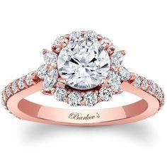 2 Super-Unique Engagement Rings With Romantic Floral Details. Plus, Rose Gold!