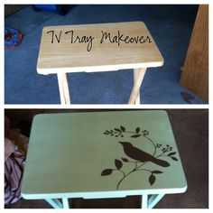 From Drab To Fab! Tv Tray Makeover