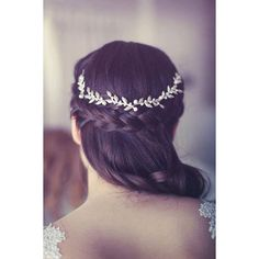 bridal Hair accessories Brides Headpieces Gentle silver Leafs Hair... ($100) ❤ liked on Polyvore featuring accessories, hair accessories, hair, bridal flower crown, floral crown, headband hair accessories, tiara headband and leaf headband