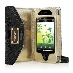 Keep your iPhone as well-dressed as you are . @Michael Kors, ur a genius! everyone needs one of these!