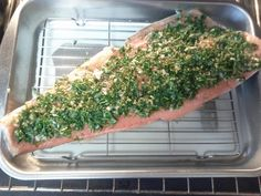 Cooking Salmon With Herbs From Your Garden