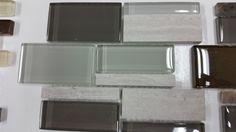 kitchen Backsplash  Dal tile Mountain morning, mixed glass