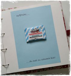 The Wenn book … a nice gift idea - Diy Gifts Birthday Gift For Wife, Diy Birthday, Diy Gifts For Friends, Gifts For Wife, Presents For Boyfriend, Boyfriend Gifts, Diy Presents, Diy Crafts For Kids, Little Gifts