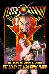 """Flash Gordon""  A football player and his friends travel to the planet Mongo and find themselves fighting the tyrant, Ming the Merciless, to save Earth."