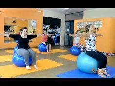 Pilates em Casa 02 - Exercícios na bola suíça - YouTube