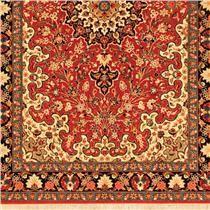 Tapete Persa Illan Sherkat Floral de Lã e Seda sobre Seda 1,40m X 2,15m