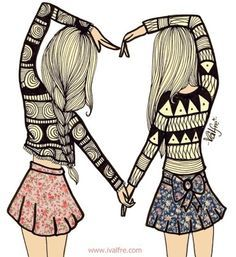 Best friends are always there Bff Pictures, Best Friend Pictures, Vintage Pictures, Best Friends Forever, My Best Friend, Best Friend Drawings, Bff Drawings, Friends Day Quotes, Drawings With Meaning