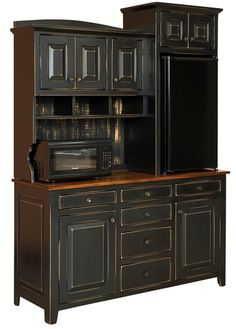 """#95 Cafe With Hutch  Cafe With Hutch is handmade by the Amish.  Your piece will be built with Premium Grade Eastern White Pine wood.  You will see some deformities and knots that come naturally with eastern pine. Measures 60"""" W x 82"""" H x 20.75"""" D"""