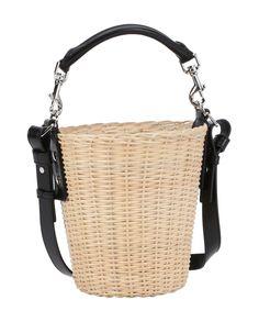 SAINT LAURENT Natural Wicker And Canvas Convertible Bucket Bag'. #saintlaurent…