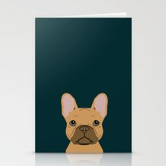 Willow - French Bulldog phone case art design for dog lovers and dog people Stationery Cards by PetFriendly - $12.00