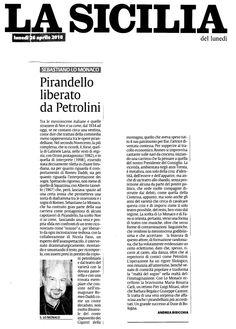 """26 aprile 2010 - La Sicilia - Andrea Bisicchia su """"Non Si Sa Come"""""""