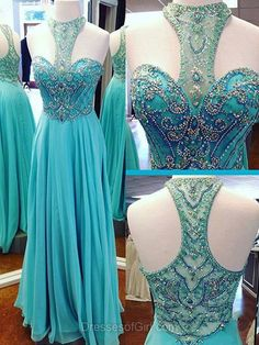 Affordable Prom Dresses, Chiffon Beading Party Dresses, Long Evening Dresses, Blue Formal Gowns, Sexy Homecoming & Graduation Dresses