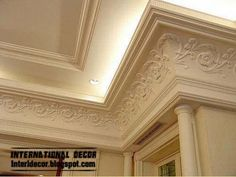 double ceiling plaster cornice with hidden lights