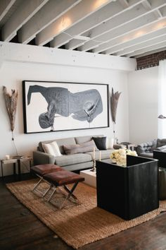 What do you think of Lukas' custom artwork in this living room? #DreamBuilders